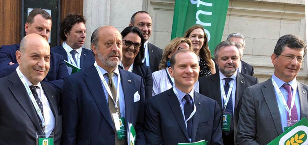 Assemblea Confagricoltura a Bruxelles con il Presidente dell'Europarlamento e il Ministro Centinaio